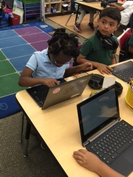 Picture of students working on Chromebooks