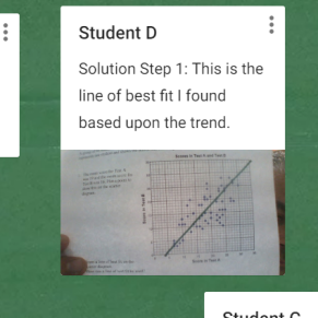 An example of student responses
